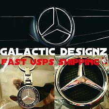 Mercedes-Benz MB Logo Front Grille White LED Light Illuminated Star Badge Emblem