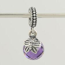 New Pandora Bead Charm - Sterling Silver 791258ACZ Morning Butterfly Purple CZ