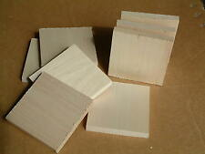 "8 Basswood boards, Thin, 1/2"" x 4"" x 4""  bass, chip carving stock, intarsia wood"