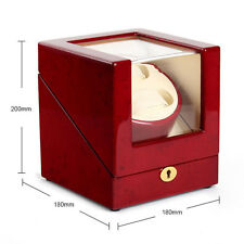 High Quality LUXURY Dual Double 2 Watch Winder Redwood Display Storage Box New