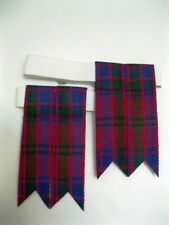 Robertson Red Tartan Kilt Hose Flashes for Men NEW ** FREE SHIPPING !