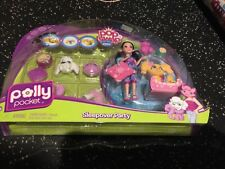 Play set New  NPull Apart Poly Pocket Pop N Swap Dolls Sleep Over Party New