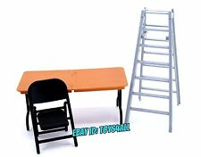 WWE JAKKS MATTEL ELITE Wrestling FIGURE Accessory LOT- TLC TABLES LADDERS CHAIR