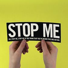 "The Smiths lyric Sticker! ""Stop me"" Morrissey, strangeways, stone roses marr"