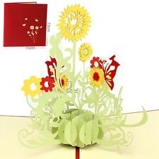 US SELLER 3D Greeting Card Sunflower Birthday Mother Day Thank you Christmas Gif