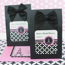 24 Personalized Eiffel Tower Paris Wedding Favor Bags Candy Buffet Boxes Q19390