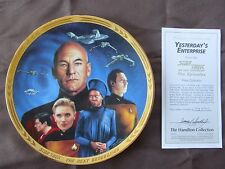 "Star Trek TNG ""The Episodes"" by The Hamilton Collection ""Yesterday's Enterprise"""