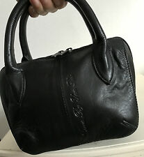 YOSHI LICHFIELD GENUINE LEATHER  HANDBAG CARRY BAG DAY/EVENING BAG SMALL BAG
