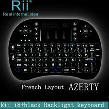 French Layout AZERTY Back light Rii mini i8+ wireless keyboard for smart TV PC