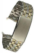 Edelstahluhrenarmband bicolor - Faltschließe - 18 mm gerader Anstoss, Uhrband