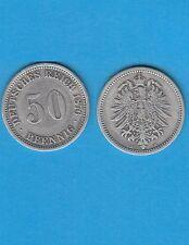 § Allemagne Germany  50 Pfennig  argent 1876 Berlin