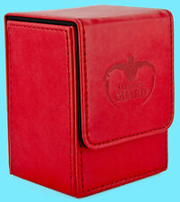 ULTIMATE GUARD LEATHERETTE FLIP DECK CASE Standard Size RED 80+ MTG Card Box