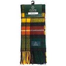 Great Gift: Pure New Wool Tartan Scottish Clan Scarf - Buchanan Modern