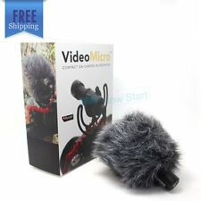 For Rode VideoMicro Compact On-Camera Microphone Nikon Sony