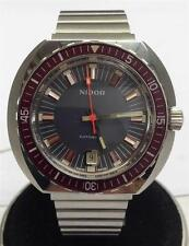 NOS NIDOR DIVERS AUTOMATIC DATE  SWISS STAINLESS STEEL CIRCA 1970-80