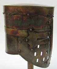 ARMOR KNIGHT CRUSADER TEMPLAR HELMET ANTIQUE FINISH ~ MEDIEVAL COSTUME ~HELMET