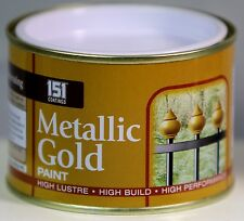 METALLIC GOLD PAINT Indoor Outdoor Top Coat Painting High Lustre 180 ml