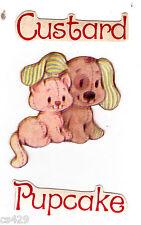 "2"" STRAWBERRY SHORTCAKE CUSTARD PUPCAKE  VINTAGE  PREPASTED WALL BORDER CUT OUT"