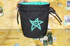 Cthulhu 'Elder Sign' Dice Bag in 'Emerald Green'
