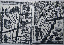 RIOPELLE JEAN PAUL 3 LITHOGRAPHIES ORIGINALES DLM232 1979 3 LITHOGRAPHS QUÉBEC