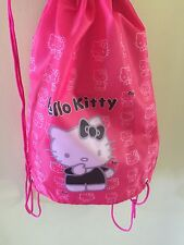 Girls Hello Kitty Dance Gym Sport ballet School Draw String Shoes Backpack Bag