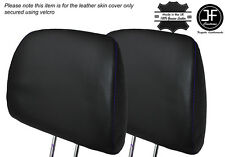 PURPLE STITCH 2X FRONT HEADREST LEATHER SKIN COVER FITS HONDA CIVIC EK4 95-01