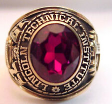 1973 Lincoln Technical Institute 10K Mans Class Ring, 18+g