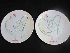 """1980 Fitz & Floyd """"Chanticleer"""" salad or luncheon plates (2) 7.5"""""""