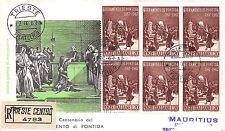 FDC Milvio - Italia - 1967 - Giuramento di Pontida - raccomandata VG - Trieste
