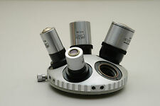 Carl Zeiss Jena 5 Position Centering Nosepiece for Microscope with Objectives