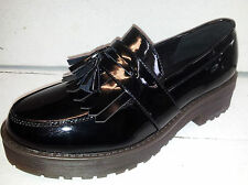 Ladies Black Patent Truffle Shoes With Tassels