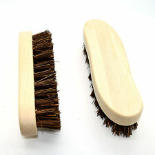 2x Large Traditional Floor Scrubbing Brushes Hard Bristle Beech Wooden Handle