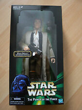 HASBRO STAR WARS POWER OF THE FORCE HAN SOLO 12IN FIGURE NEW MINT IN BOX