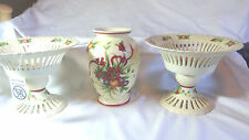 3 piece Center piece Vase Bowls Christmas Holiday Folknordic