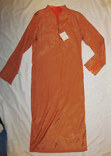 LOULOU DE LA FALAISE coral peach satin look kaftan tunic retro look dress S NWT