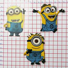 MINIONS - (DESPICABLE ME) - Embroidered Patches / Iron-On Transfer Patch Set