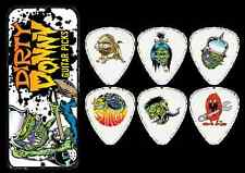 6 Collectible DIRTY DONNY Guitar Picks with Keepsake TIN 0.73mm