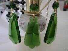 "4"" BIG GREEN COLOR CRYSTAL PENDALOGUE LAMP CHANDELIER PRISM X'MAS WEDDING DECO 8"