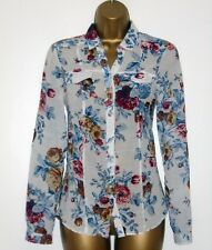 MASSIMO DUTTI washed floral print shirt blouse in size S 8 UK 36 EU 4 US