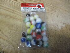 MARBLE KING 25 COUNT AMERICAN MADE GLASS MARBLES BAG PADEN CITY W VA NEW OLD STO