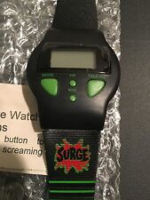 Coca-Cola Surge Screaming Digital Watch Vintage 90s Coke Soda Pop Alarm Clock