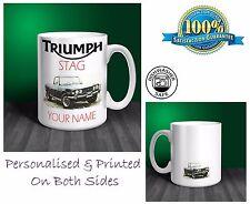Triumph Stag Personalised Ceramic Mug Gift. (C059)
