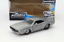 Dom´s Dodge Charger R/T aus dem Film Fast and Furious 7 2015 silber 1:24 Jada T