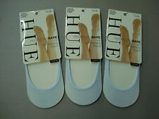 NWT Women's Hue Sheer Hidden Liner 3 Pair Size M/L Ice Castle #14H