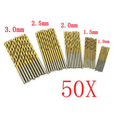 50Pcs Mini Micro Round Shank Drill Bits Set Small Precision HSS Twist Drills