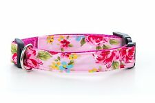 Cath Kidston Inclu LARGE Dog Collar OR Lead Polka Dot and Floral. Handmade in UK