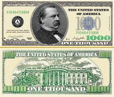 "GROVER CLAYLAND - BILLET ""1000 DOLLAR US""  Collection President Million Histoire"