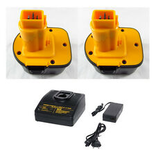 2 Battery For Dewalt 12V 3.0Ah Ni-MH 152250-27 DC9072 DE9071 DW9072 + charger