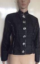 CHRISTINA AUNGIERS COUTURE, noir & argent veste, 36 pouces buste, pre-loved