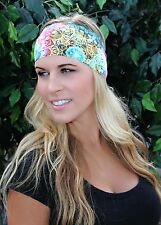 COLORFUL GLASS -RAVEbandz No Slip Sports Running Yoga Boho Spartan Headband
